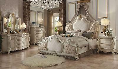 Acme Furniture Queen Picardy Antique Pearl 6 Piece Bedroom Set