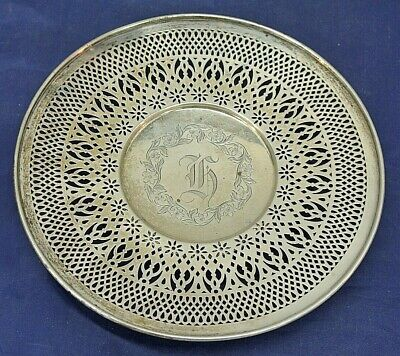Sterling Silver Reticulated Plate, Sphinx Hallmark, #322A