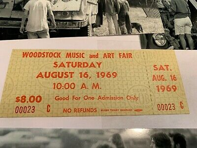 Woodstock 1969 Saturday Extremely Low Ticket Number 23 Jimi Hendrix Janis Joplin