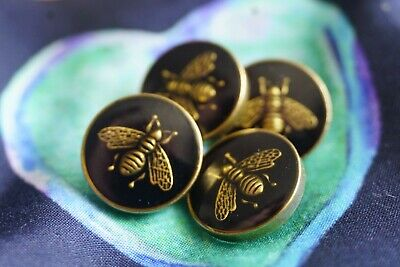 ❤💙🖤 GUCCI BUTTONS  12 pieces    16   mm  0,7 inch bee small Metal