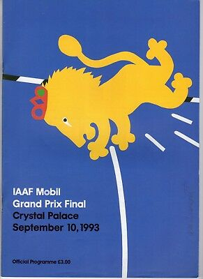 Programme IAAF Mobil Grand Prix Final 10.9.1993 @ Crystal palace
