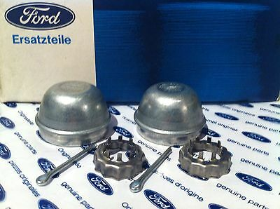 For FORD FOCUS MK1 98-05 REAR WHEEL HUB GREASE CAPS /& RETAINING NUTS By Karlmann