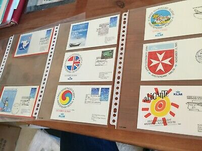 Netherlands 8 different first flight FDC covers from the 1980's period
