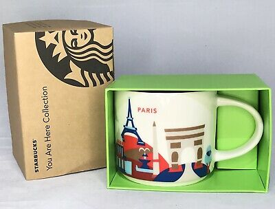 Starbucks Paris France Mug Cup Country City You Are Here Collection 14oz NEW
