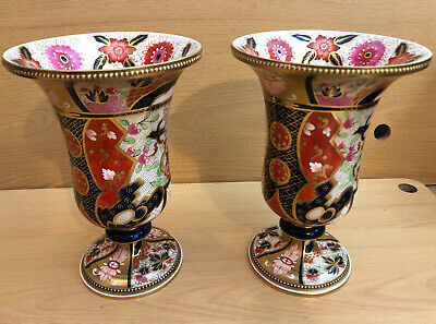 Stunning pair of 19th Century Copeland Spode Imari Vases pattern 1536 Antique
