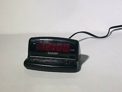 SHARP ELECTRIC ALARM Clock Digital LED Display With Snooze & Battery Backup