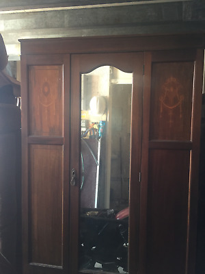 Edwardian double mirrored Wardrobe