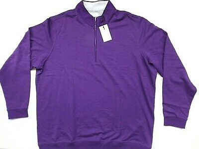 New Adidas AdiPure Men's Sz XL French Terry Golf Pullover Purple MSRP $90