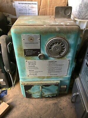 Public Telephone Payphone Telecom Phone Green CT3 Rough Condition
