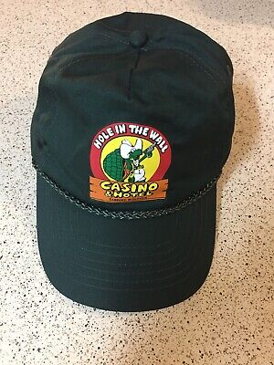 Vintage Casino Hat Hole In The Wall Trucker SnapBack Wisconsin Turtle Graphic