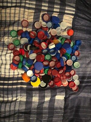250 Assorted Plastic Bottle Caps Fir Arts And Crafts