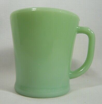 1 JADEITE  FLAT BOTTOM  OVEN  FIRE-KING GLASS  MUG or Coffee CUP D handle