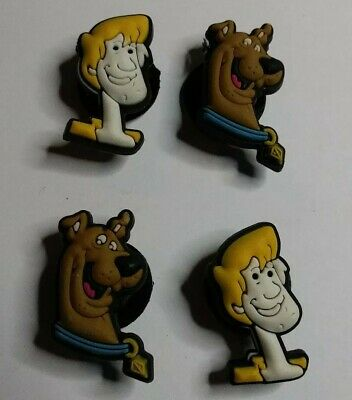 Scooby Doo & Shaggy 4pc SHOE CHARMS LOT Fits CROC SHOES & JIBBITZ BRACELETS