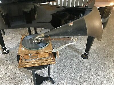 WORKING Victor M Monarch Front Mount Victrola 1901-1905 Phonograph