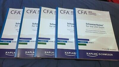 2019 CFA LEVEL 1 Kaplan Schweser, FLASHCARDS, NEW - $79 99
