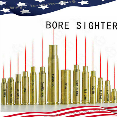 US CAL Brass Cartridge Red Dot Laser Bore sighter Boresight For Hunting Scope