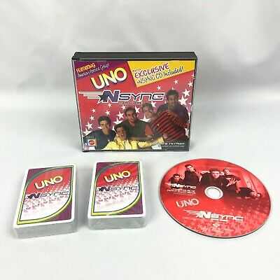 Uno NSYNC Card Game By Mattel With Bonus ft Justin Timberlake New Sealed Cards