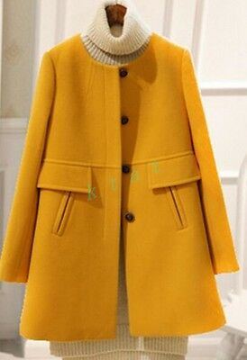 Fashion Womens Long Coat Jacket Spring Trench Slim Fit  Outwear Chic Cute