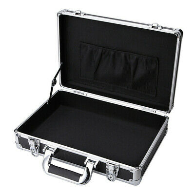 Small Aluminum Mens Business Briefcase Portable Flight File Hardcase Toolboxes