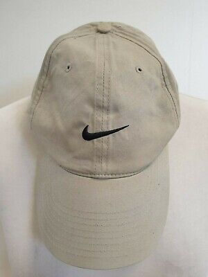 Mens Nike Tiger Woods Beige With Black Tick Baseball Cap One Size