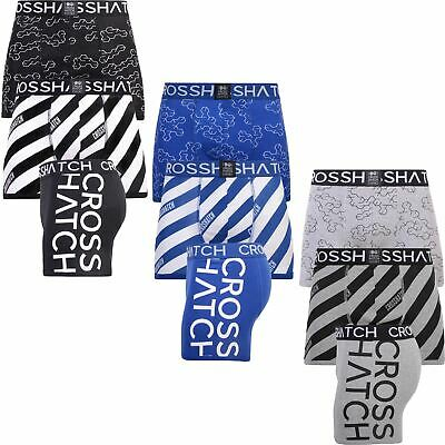3 Pack Crosshatch HOLKHAM Boxer Shorts Underwear Trunks Multipack Designer AW19