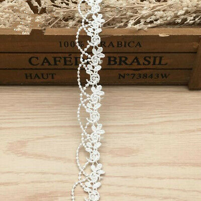 3 yards embroidery flower lace DIY sewing trim decoration wedding accessories