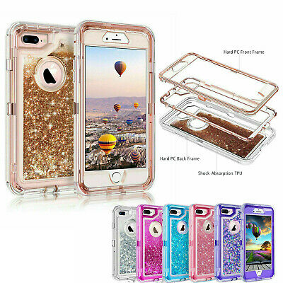 360° Liquid Glitter Bling Shockproof Heavy Duty Case For iPhone XR XS MAX 8plus