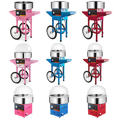 Candy Floss Machine Cart With Cover Cotton Candy Sugar Maker Commercial Electric
