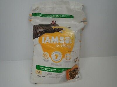 Iams for Vitality Cat Food with Fresh Chicken for Adult Cats, 10 kg Pet Supplies