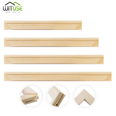 """Canvas Stretcher Frame Bar Wood Strip For Gallery Wrapped Paintings 8"""" To 24"""" F"""