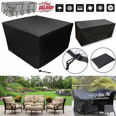Waterproof Garden Patio Furniture Cover Rattan Table Cube Seat Protector Outdoor