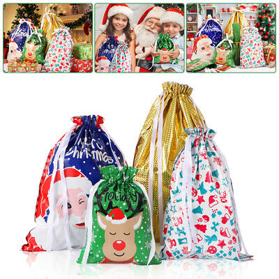 Christmas Drawstring Bags Sweet Biscuit Cookie Aluminum Foil Party Favour Gifts