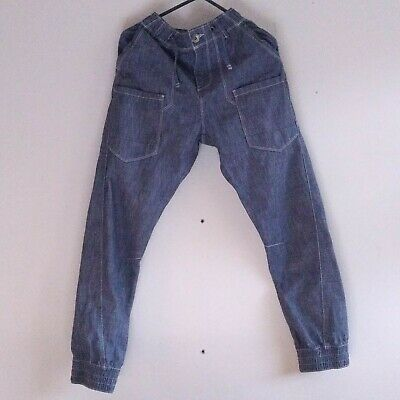 Boys NEXT Blue Jeans trousers with detailed white stitching Age 12yrs/152cm USED