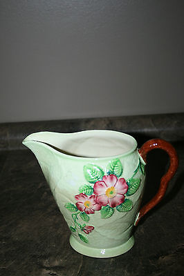 Carlton Ware Australian Design Wild Rose Flower Pitcher / Jug Made in England
