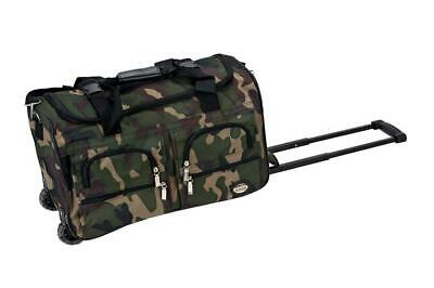 Rockland Luggage Rolling 22 Inch Duffle Bag, Camouflage, One Size Camouflage