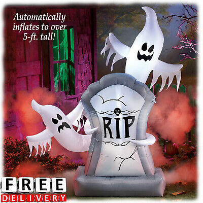 Halloween Inflatable Ghost Decoration Airblown 5Ft Scary Lighted Outdoor Decor