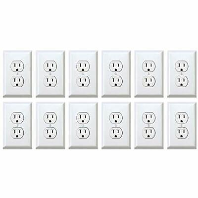 Fake Outlet Stickers Prank - Airport Wall Sockets 12 Pack Funny Electrical Power