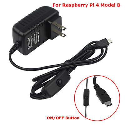 1.5m Micro USB Power Supply Charger Cable Wire  ON//OFF Switch Raspberry Pi ba