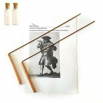 Ot Dowsing Rod Copper -Solid Material 99% - Ghost Hunting, Divining Water, Gold,