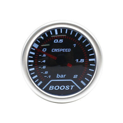 "52mm 2"" Turbo Boost gauge reads up to 2 bar Smoked Face"