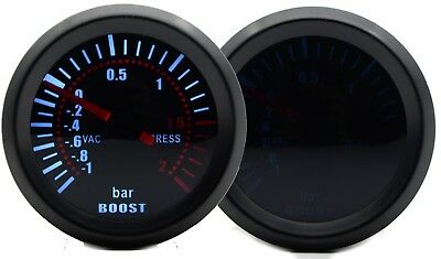 52mm AGG-1 Smoked Turbo Boost Gauge -1 to 2 Bar Pressure