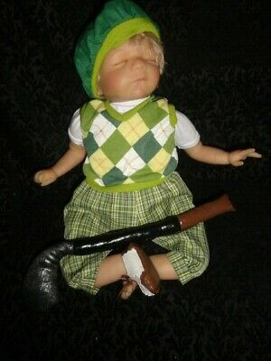 """Paradise Galleries 19"""" Baby Doll Future Golfer by Artist Pat Moulton"""
