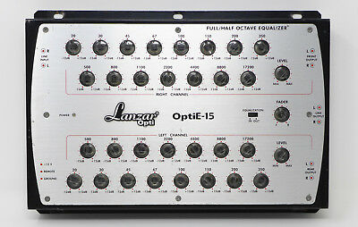 Lanzar OptiE-15 band half/full octave stereo equalizer stere car audio hifi mach