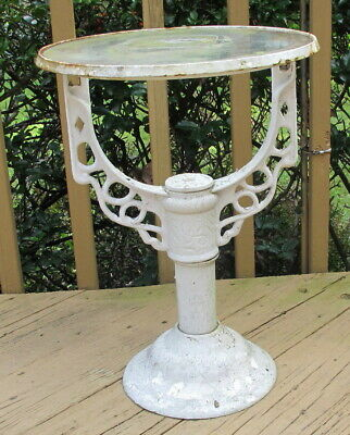 Antique/Vintage Cast Iron Industrial Hot Water Heater Stand Planter Base Table