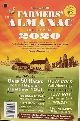 Farmers Almanac for the Year 2020 Vol 203  FREE SHIPPING CB