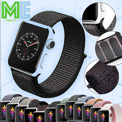 für Apple Watch Nylon Sport Loop Gewebe Armband Series 1 2 3 4 5 Uhrenarmband