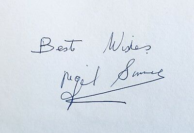 Nigel Sims HAND SIGNED White Card Aston Villa 1957 FA Cup Winner **IN PERSON**