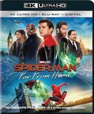 SPIDERMAN-FAR FROM HOME (4K UHD Disc) BRAND NEW Factory Sealed READ DETAILS