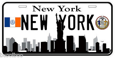 Jersey City New Jersey B/&W Aluminum Novelty Car Tag License Plate