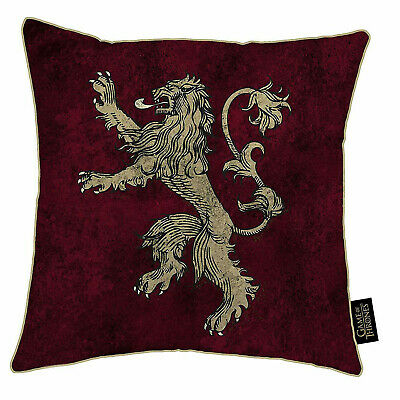 Game Of Thrones House Lannister Square Cushion - 100% Official HBO Licensed